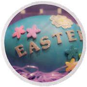 Easter Crafts Round Beach Towel