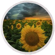 Round Beach Towel featuring the photograph Eccentric  by Aaron J Groen