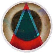 Round Beach Towel featuring the digital art Eclipse 2024 by Edmund Nagele