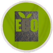 Eco Green Round Beach Towel