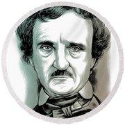 Edgar Allan Poe 2 Round Beach Towel