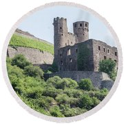 Ehrenfels Castle Round Beach Towel