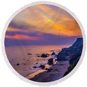 El Matador Sunset Round Beach Towel