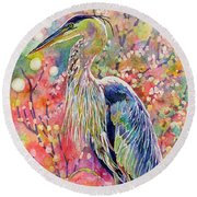 Elegant Repose Round Beach Towel