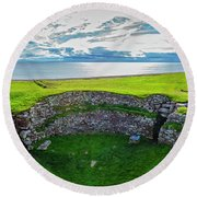 Elevated View Of Carn Liath An Iron Age Round Beach Towel