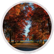Ellacoya Oaks Round Beach Towel