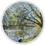 Ellicott Creek Park Round Beach Towel