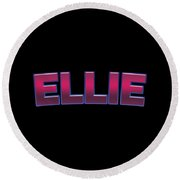 Ellie #ellie Round Beach Towel