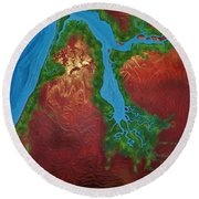 Embly And Hay Rivers Round Beach Towel