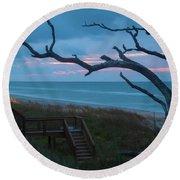Emerald Isle Obx - Blue Hour - North Carolina Summer Beach Round Beach Towel