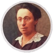 Emmy Noether, Famous Mathamatician Round Beach Towel