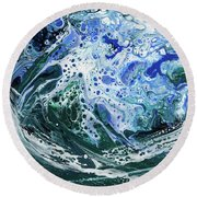 Enchanted Wave Round Beach Towel