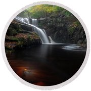 Round Beach Towel featuring the photograph Enders Elegance by Bill Wakeley
