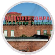 Enterprise Mill - Graniteville Company - Augusta Ga 1 Round Beach Towel