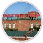 Enterprise Mill - Graniteville Company - Augusta Ga 2 Round Beach Towel