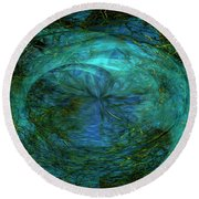 Round Beach Towel featuring the photograph Entropy by Mike Braun