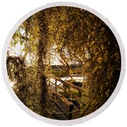 Round Beach Towel featuring the photograph Entry by Robert Knight