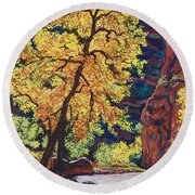 Escalante River South Utah Round Beach Towel