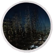 Escape From New York Round Beach Towel