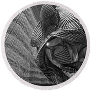 Escher's Summer Cottage Round Beach Towel