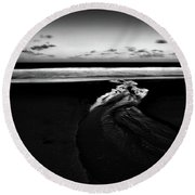 Estuary To The Sea Round Beach Towel