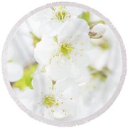 Round Beach Towel featuring the photograph Ethereal Blossoms by Emily Johnson