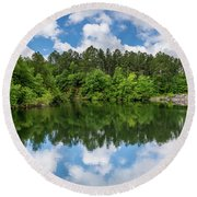 Euchee Creek Park - Grovetown Trails Near Augusta Ga 1 Round Beach Towel