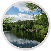 Euchee Creek Park - Grovetown Trails Near Augusta Ga 2 Round Beach Towel