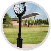 Evans Towne Center Park Clock - Columbia County Ga Round Beach Towel