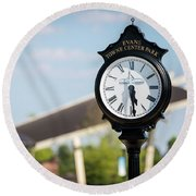 Evans Towne Center Park Clock - Evans Ga Round Beach Towel