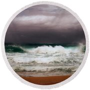 Even The Winds And The Sea Obey Him Round Beach Towel