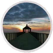 Evening Peace Round Beach Towel