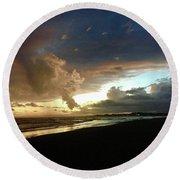 Evening Sky Round Beach Towel