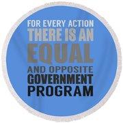 Every Action Round Beach Towel