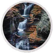 Every Teardrop Is A Waterfall Round Beach Towel