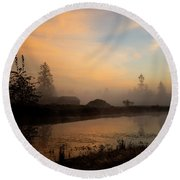 Round Beach Towel featuring the photograph Everyday Is A Gift - Hope Valley Art by Jordan Blackstone