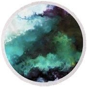 Round Beach Towel featuring the painting Exodus 14 14. The Lord Shall Fight For You by Mark Lawrence