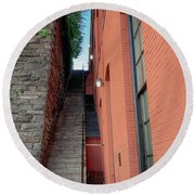 Exorcist Stairs Beauty Round Beach Towel