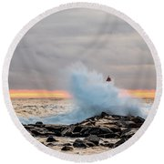 Explosive Sea 2 Round Beach Towel