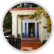 Exterior Courtyard Getty Villa I  Round Beach Towel