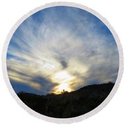 Round Beach Towel featuring the photograph Exuberant by Judy Kennedy
