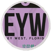 Eyw Key West Luggage Tag I Round Beach Towel