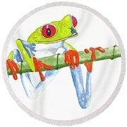 Fabio T Frog Round Beach Towel