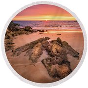 Fading Light Round Beach Towel