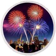 Fair St. Louis Fireworks 6 Round Beach Towel