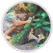 Fairy World Round Beach Towel