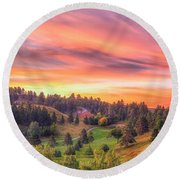 Round Beach Towel featuring the photograph Fairytale Triptych 1 by Fiskr Larsen