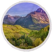 Fall Color In The San Juan Mountains Round Beach Towel
