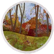 Fall Colors I Round Beach Towel