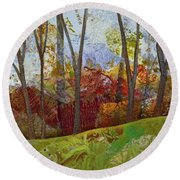 Fall Colors II Round Beach Towel